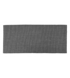 Long Lead Grey Ribbed Jute Floor Mat 80x180cm