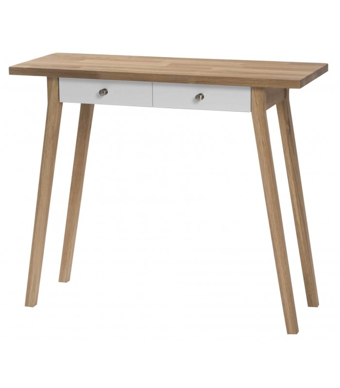 Oak Console Table with chalk drawers