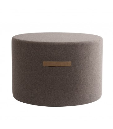 Large Brown Wool Pouffe