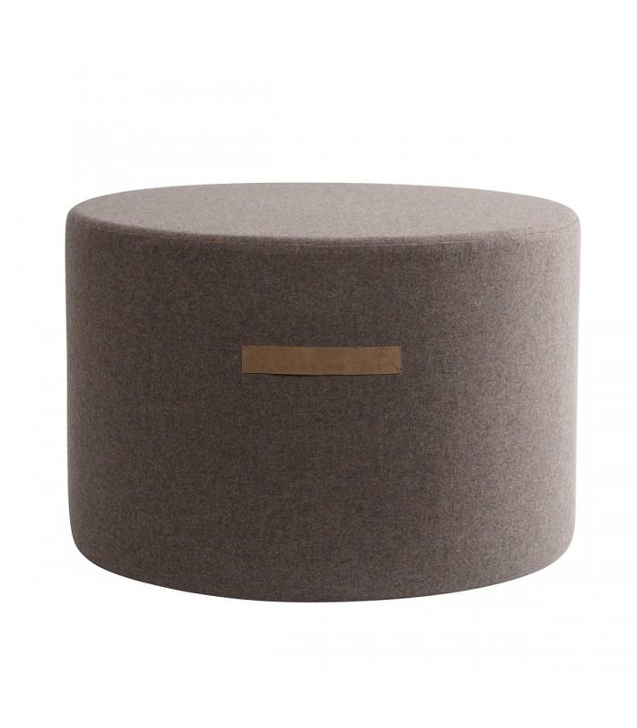 Large Brown Wool Pouffe