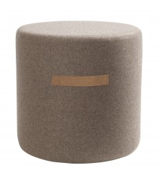 Brown Wool Pouffe - Small