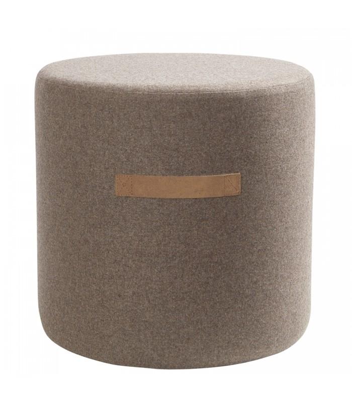 Brown Wool Pouffe - Small