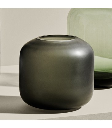 Small Glass Vase - Grey