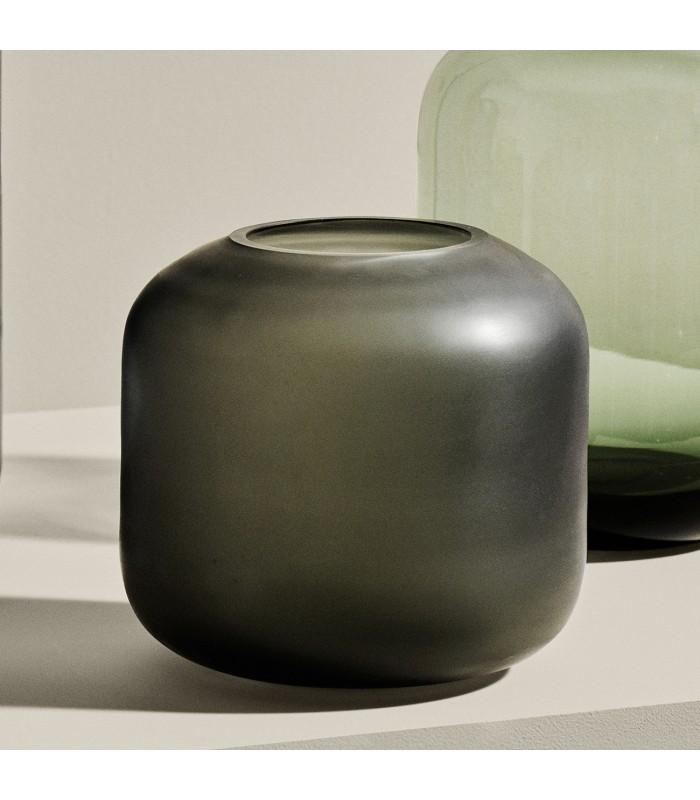 Small Glass Vase - Grey