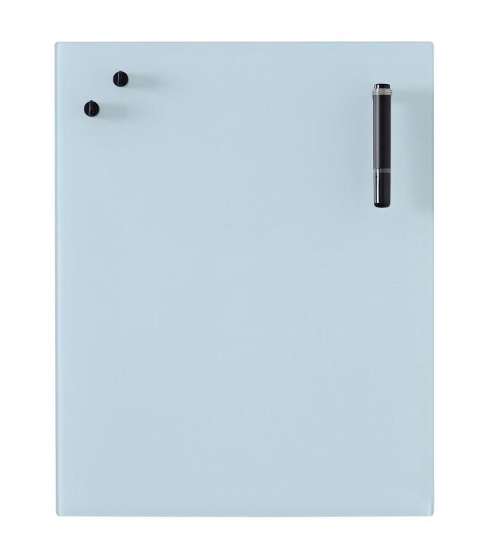 Glass Notice Board - Light blue