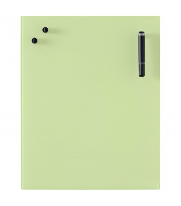 Glass Notice Board - Lime green