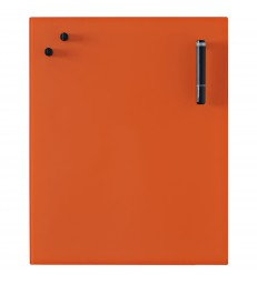 Glass Notice Board - Orange