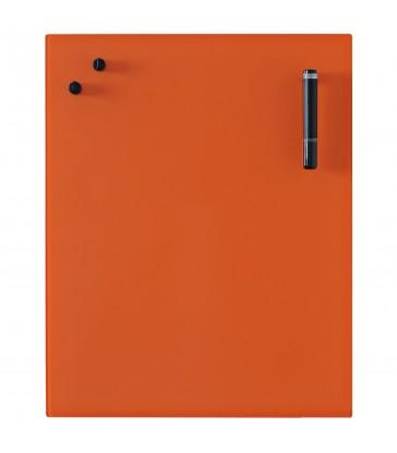 Glass Notice Board - Orange