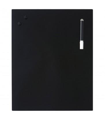 Glass Notice Board - Black