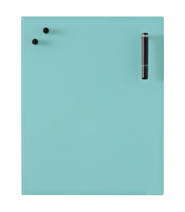 Glass Notice Board - Turquoise
