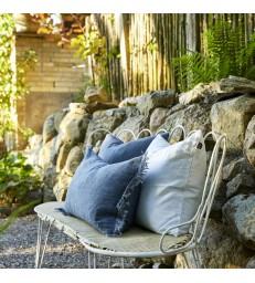 Pale Blue Pure Linen Cushion 50x50cm