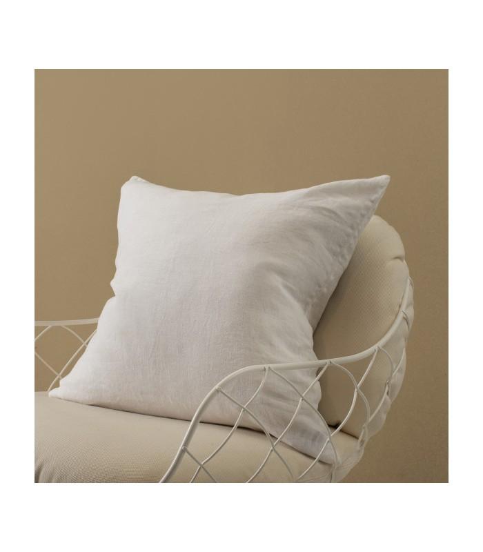 White Pure Linen Cushion 50x50cm