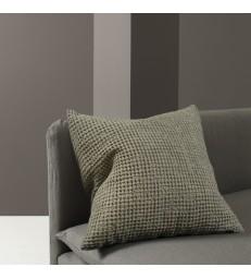 Olive Green Waffle Cushion 50x50cm