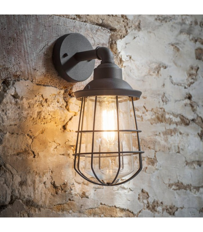 Wall Light Charcoal exterior grey colour light