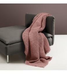 Pink Waffle Throw cotton/linen 130x170cm