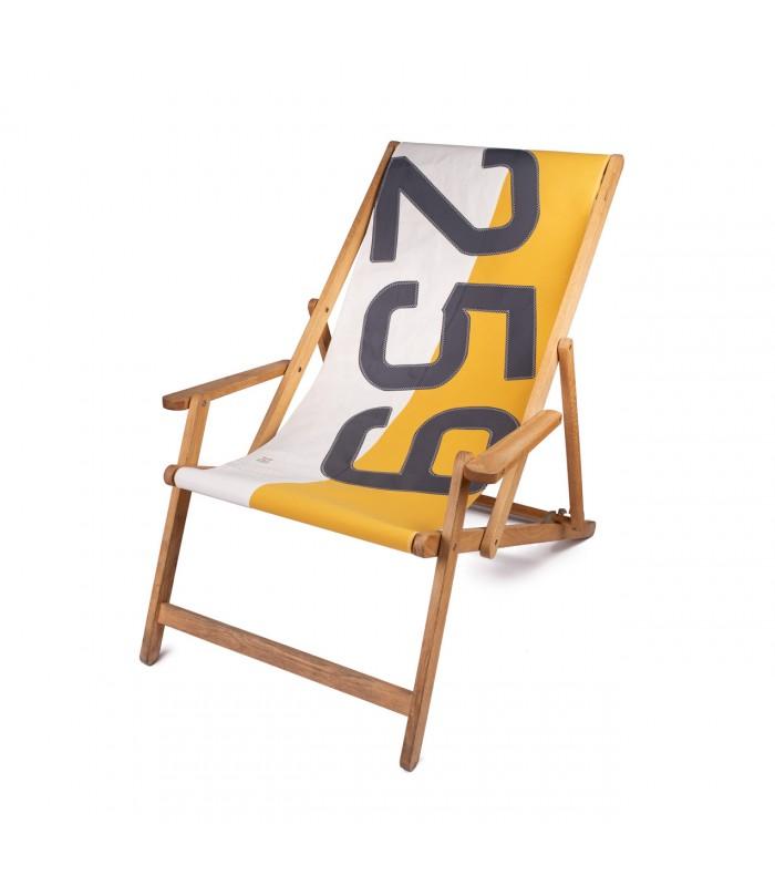 Yellow Canvas Deckchair - Recycled Sailcloth