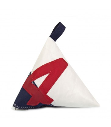Navy and Red 4 Doorstop made from recycled sails