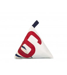 Navy Stripe 6 Doorstop made from recycled sails