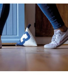 Navy and Blue 3 Doorstop made from recycled sails