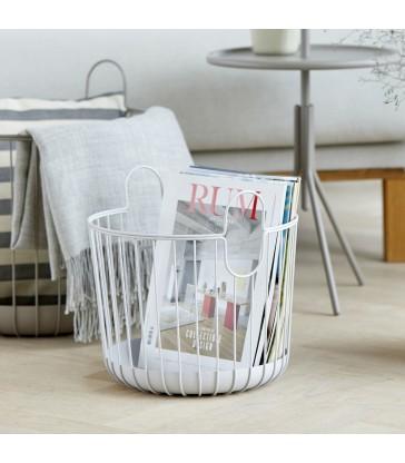 small pale grey storage basket