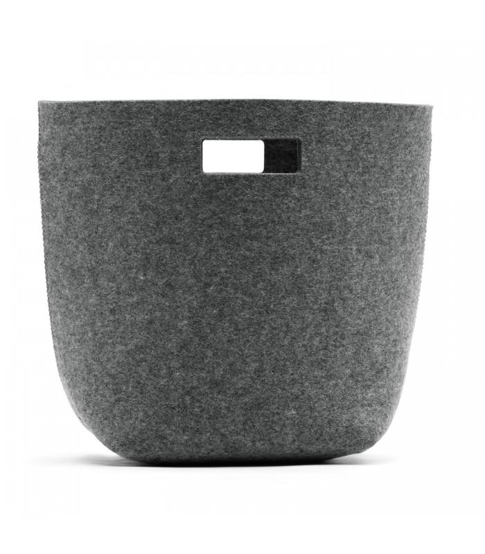 Grey Woollen Felt Bag - Cutout