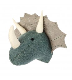 Felt Mini Triceratops grey/blue
