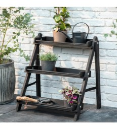 Stained Wood Plant Stand