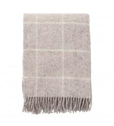 Vinga Beige Wool Throw130x200