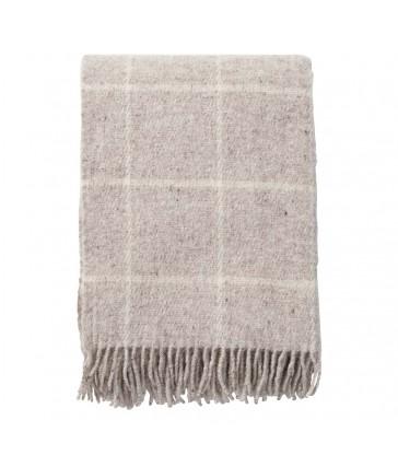 Vinga Beige Wool Throw 130x200