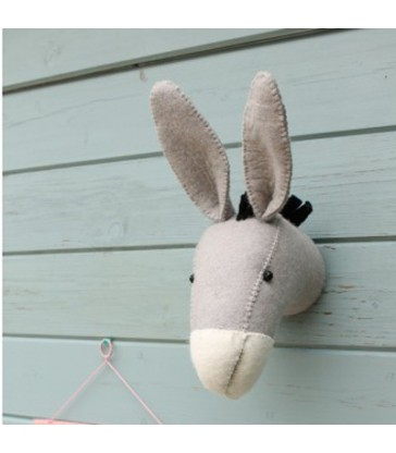 Small Donkey Head childrens wall decorations