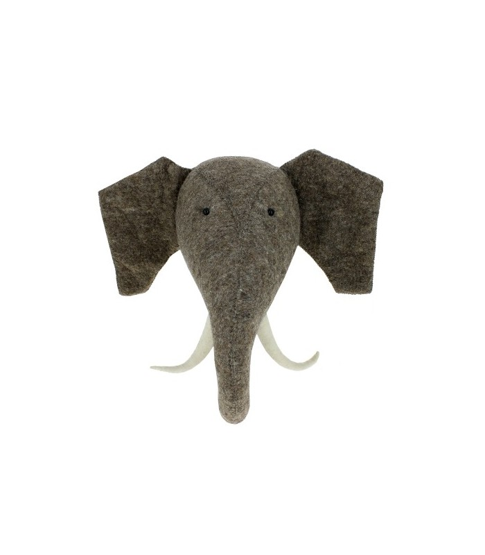 Large Felt Elephant Head