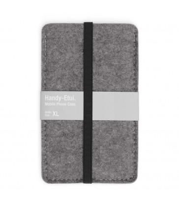Woollen Felt Phone Case - Grey