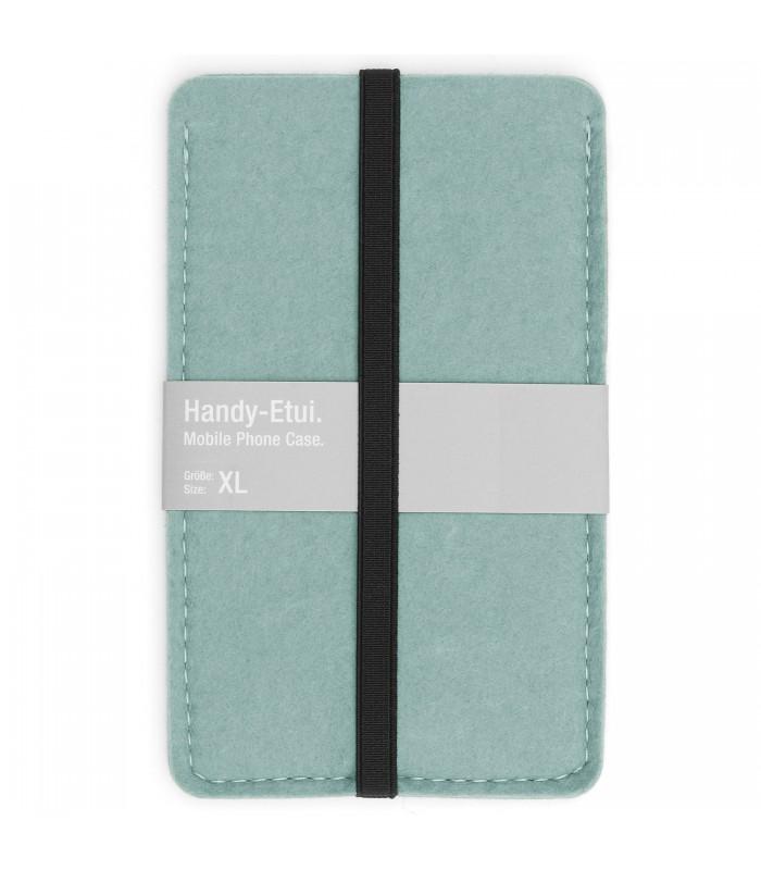 aqua blue  felt phone case made from 100% woollen felt