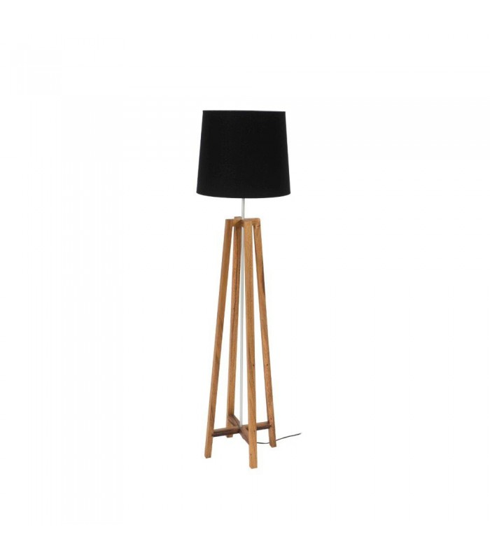 Floor Lamp with black conical shade