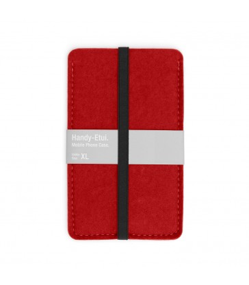 Woollen Felt Phone Case - Red