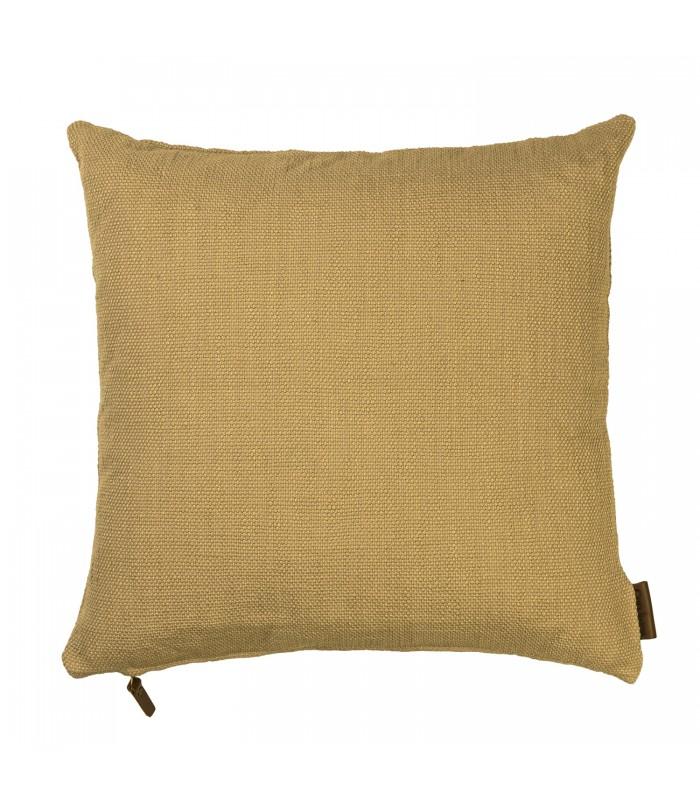dijon colour cotton handloomed cushion
