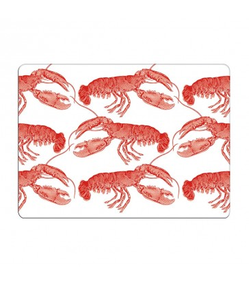 Placemat Set Of 4 - Lobster/Coral  - Sale