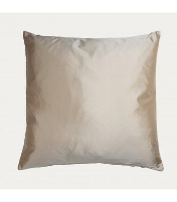 Silk Beige Cushion with filler - Sale