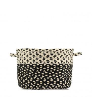 Braided Basket Black & white - Sale