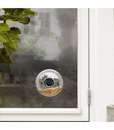 small glass window bird feeder garden gifts