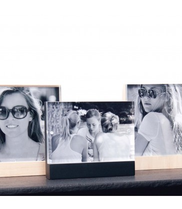 small Magnetic Photo Frame 10x15 - Black