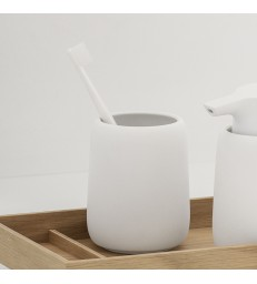 White Tumbler for toothbrushes
