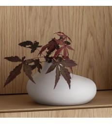 Pale Grey Porcelain Vase H13