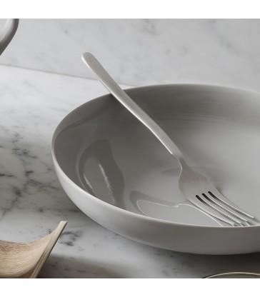 Pale Grey Deep Plate - Dinnerware
