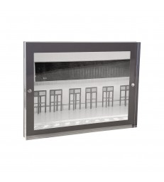 Grey Acrylic Magnetic Frame 13x18cm