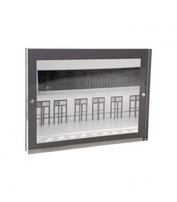 dark grey acrylic magnetic photo frame 13x18cm
