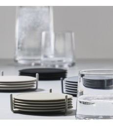 Set 6 Pale Grey Coasters