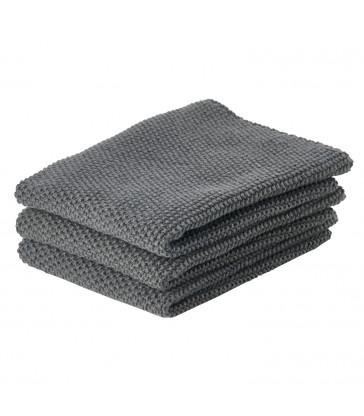 Set 3 Kitchen Cloths - dark grey