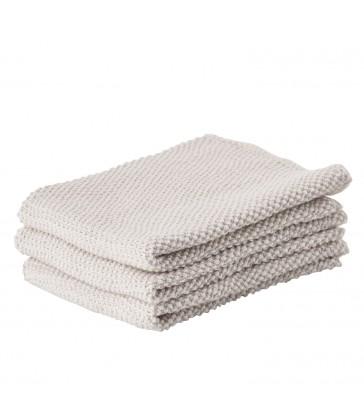Set 3 Kitchen Cloths - light grey
