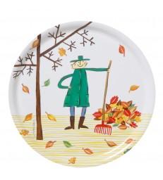 autumn Leaf Round Birch Tray
